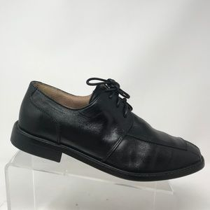 Florsheim Black Leather Oxfords sz 9.5 D Split Toe